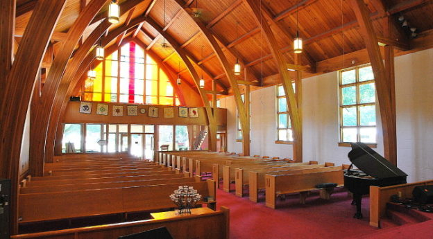 sanctuary taken from pulpit