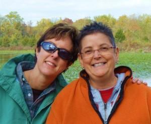 Karen Adams and Gale Charlotte