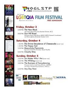 2014 LGBTQIA film festival flyer