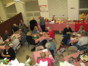 Trudi's café tables fill up quickly on Friday evening.