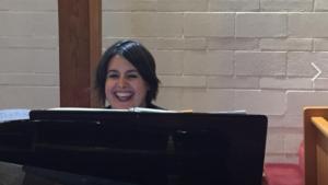 Kat Braz at the piano